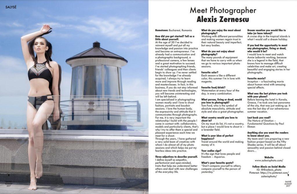 Alexis Zernescu de la Zalexis Photo- interviu in Salyse Magazine