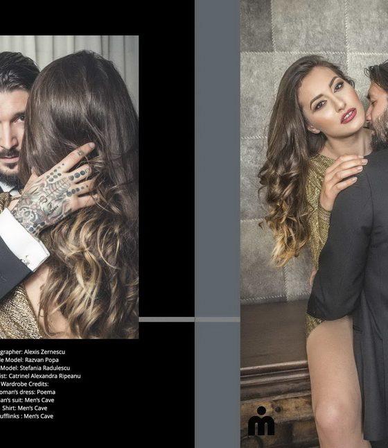 Editorial de boudoir de cuplu pentru revista iMirage Magazine (Canada)